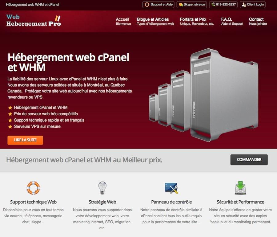 Web Hébergement Pro