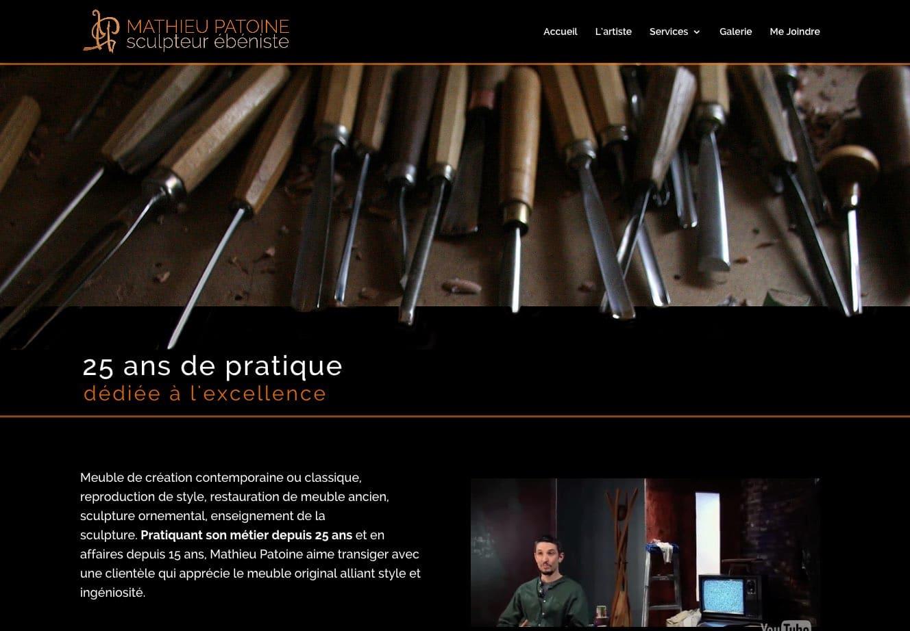 Mathieu Patoine – Sculpteur ébéniste